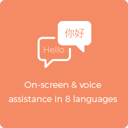 on-screen voice