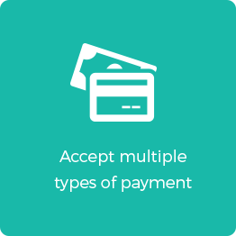 accept multiple types of payment